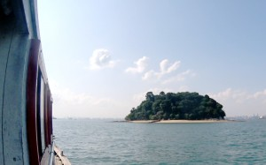 Junk Island in Singapore, right before I began my swim to shore.